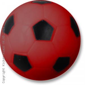 Kickerball mit Fußballmuster