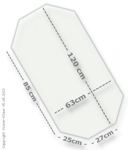 Spielfeld aus Sicherheitslgas (ESG)