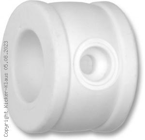 Stellring aus Kunststoff mit Schraube und Sicherungsmutter