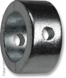 Stellring aus Metall mit Schraube und Sicherungsmutter