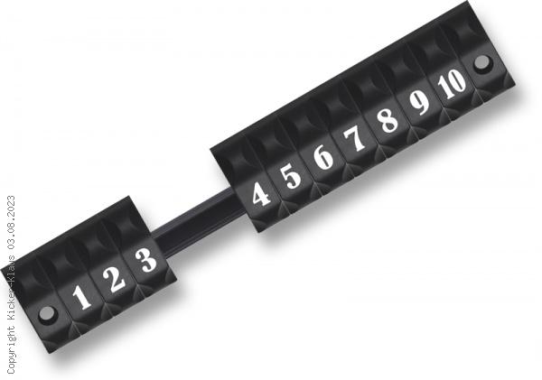 Torzähler schwarz mit Ziffern