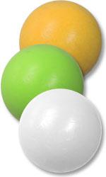 Kickerball aus Kunststoff, mittelhart, einfarbig